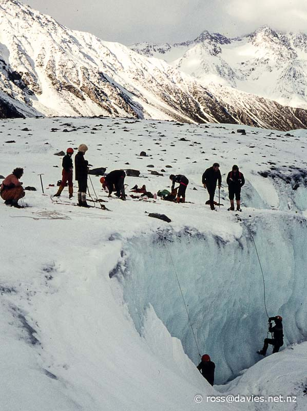 Snowcraft on Tasman Glacier
