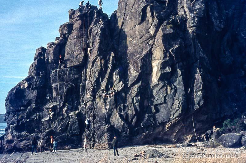Rockclimbing Long Beach Otago