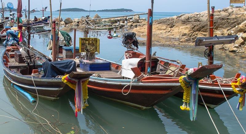 Fishing boats at Chaweng Beach