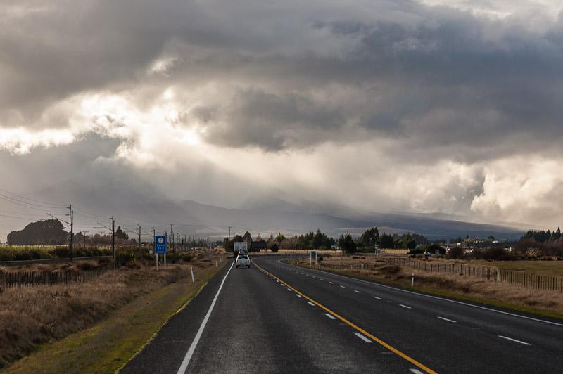 Towards Waiouru and Mt Ruapehu