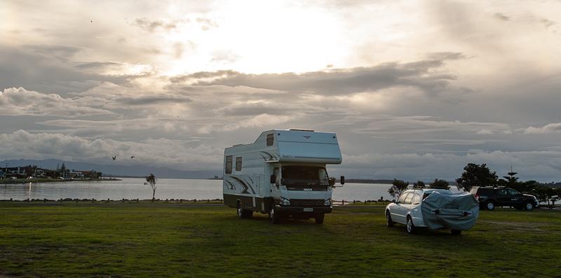 Parked up at Tauranga