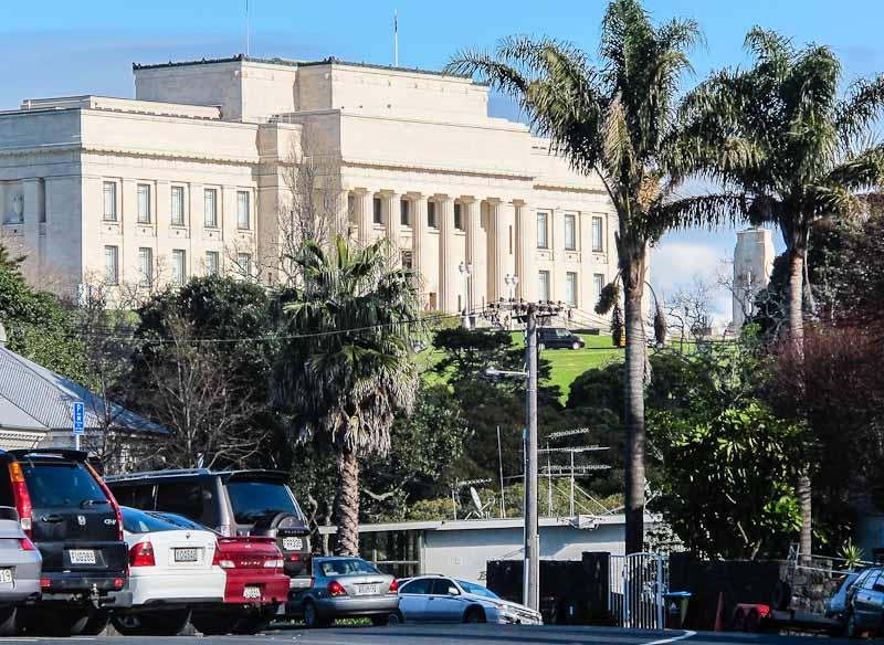 Auckland War Memorial Museum from Parnell