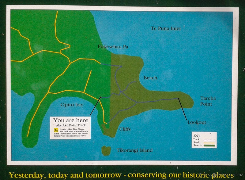 Opito Bay information map