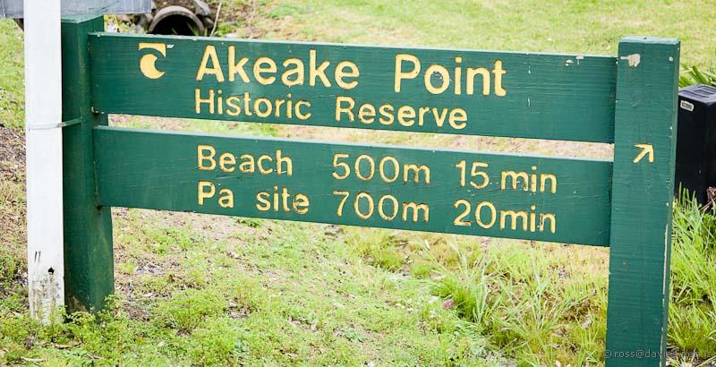 Information sign at Opito Bay