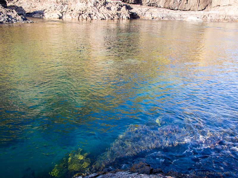 The bay below the Cape Brett Hut
