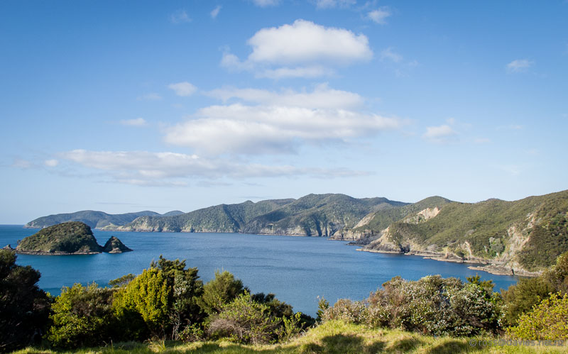 View from Oke Bay looking north towards Cape Brett