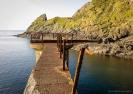 The old Cape Brett lighthouse landing