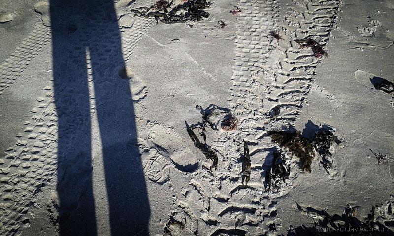 Sand patterns Pukehina Beach