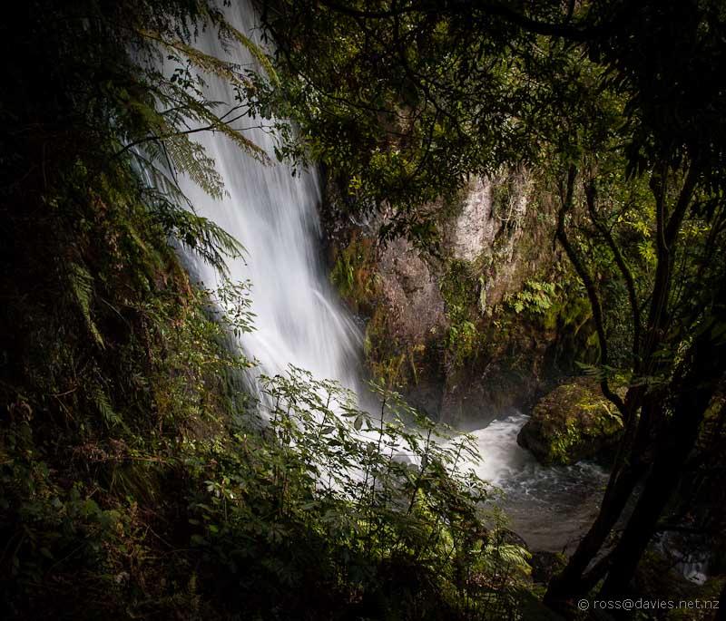 Waterfall in Stream at Buried Village Rotorua