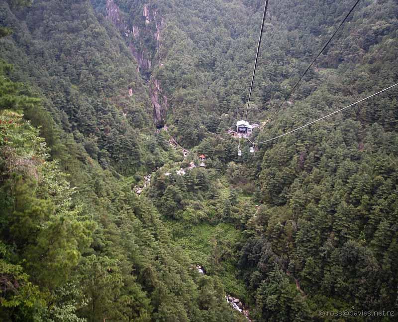 Gondola ride Mt Cangshan Dali