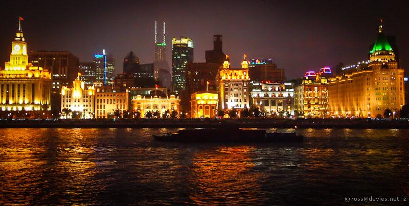 The Bund, Shanghai, by night