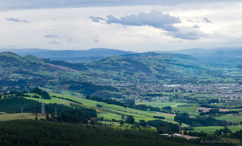 Saddle Hill and Mosgiel from Flagstaff
