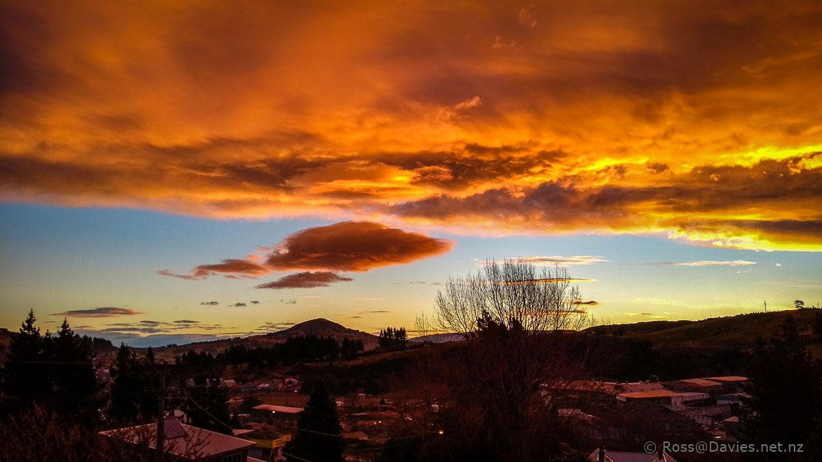 Sunset over Saddle Hill