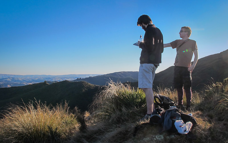 Michael and Andrew on Green Hill