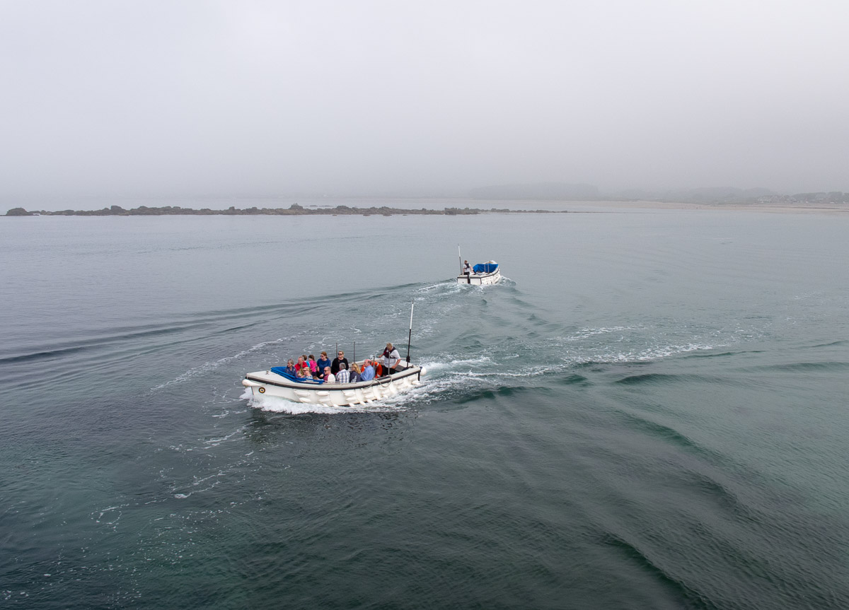 Shuttle boats to St Michael's Mount
