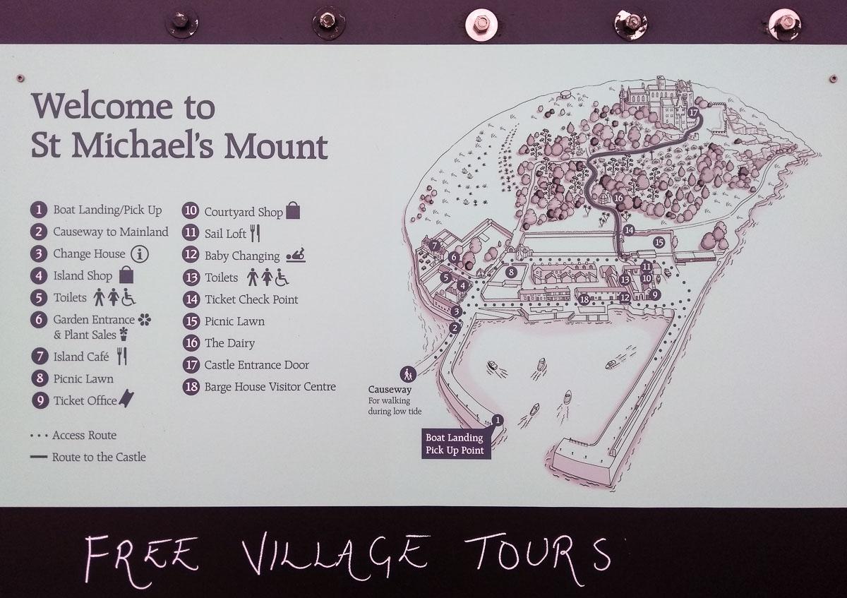 St Michael's Mount map