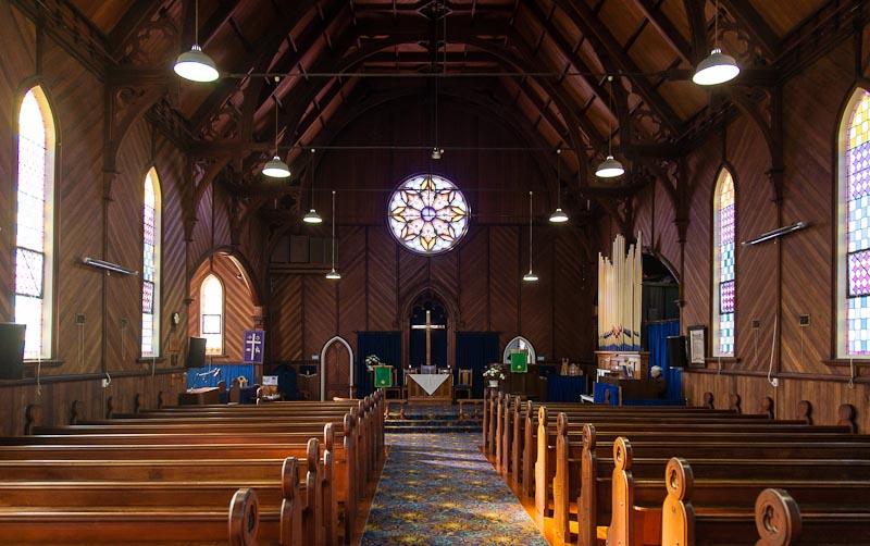 Thames church interior