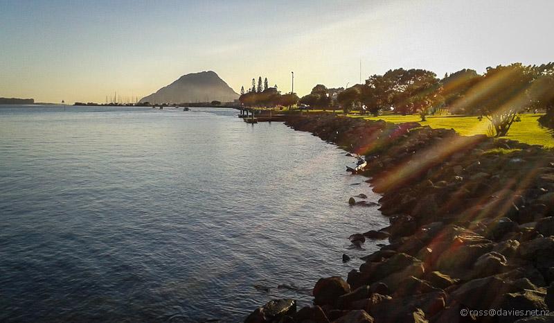 Tauranga Harbour and Mt Maunganui