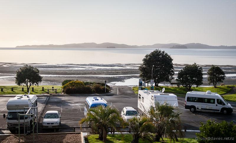 Snells Beach morning - Kawau Island in the distance