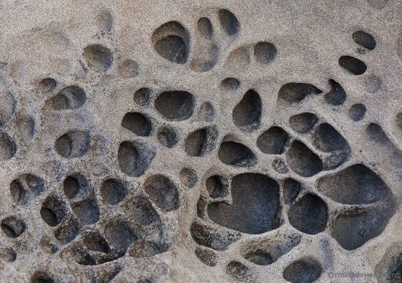 Shoreline rock patterns on the Mangawhai Cliff Top Walkway