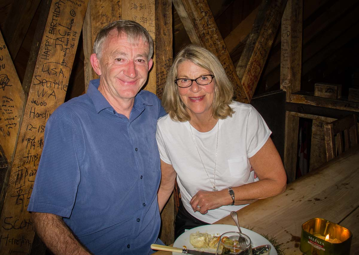 Us at Fleur's restaurant Moeraki