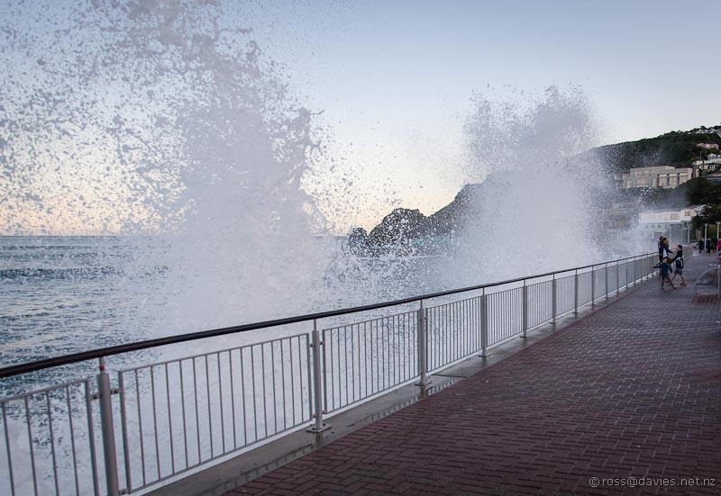 Waves at St Clair beach