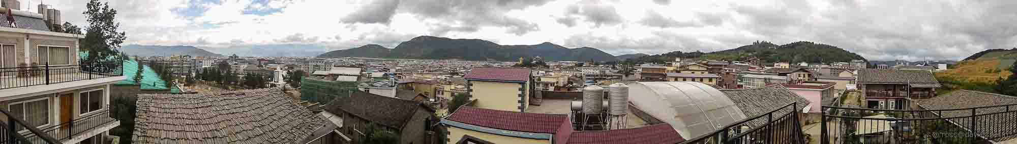 Shangrila panorama from Kevin's Trekker Inn
