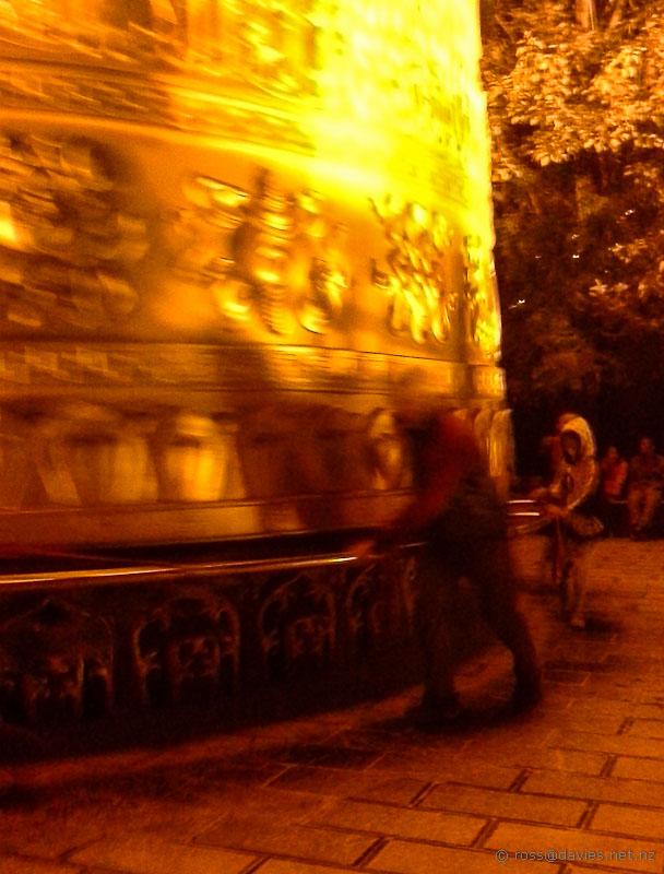 Prayer drum Golden Temple Yunnan
