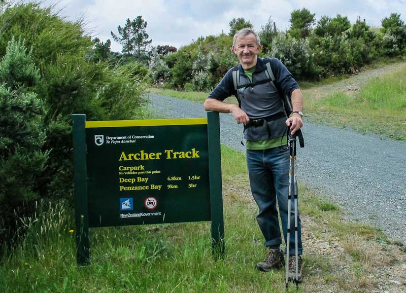 Ross at start of Archer Track
