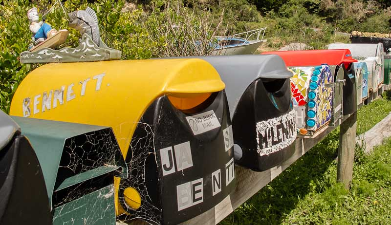 Elaine Bay mailboxes