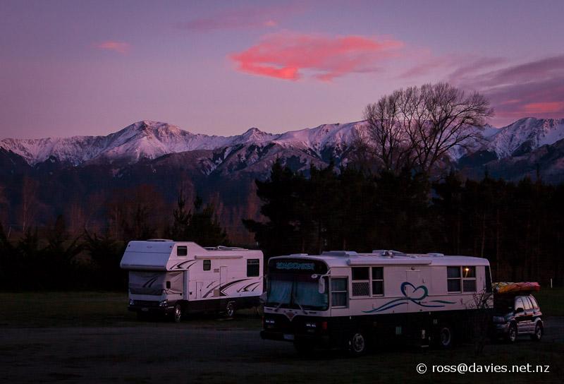 Sunrise near Hanmer Springs