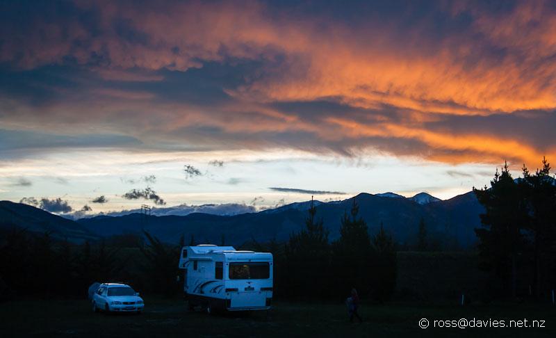 Sunset near Hanmer Springs