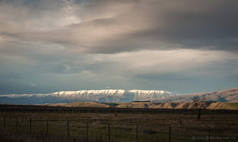 St Bathans Range from Clutha Valley