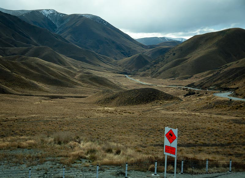 Lindis Pass - looking north from the top