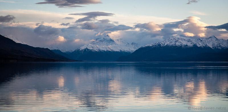 Mt Cook at the head of Lake Pukaki