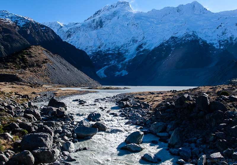 Mt Sefton and the Sealy Glacier/Lake
