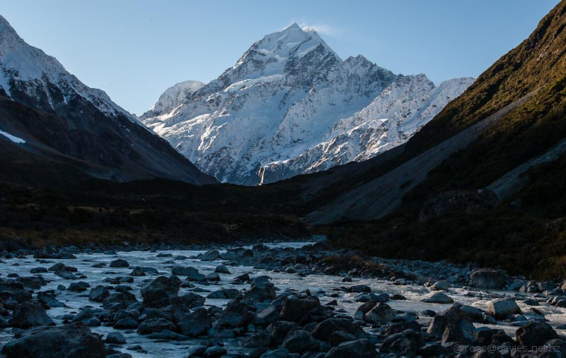 Mt Cook from the Hooker Valley