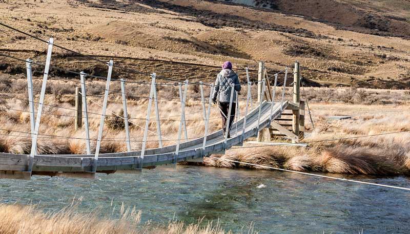 Swing bridge near Mt Sunday