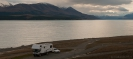 Suzi motorhome parked up at Lake Pukaki