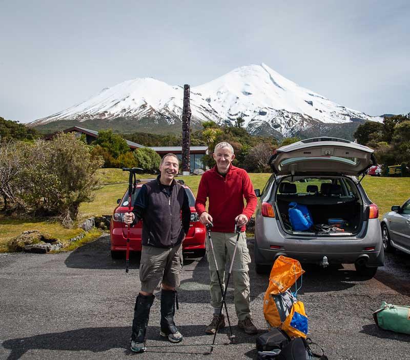 Rob and Ross and Mt Taranaki