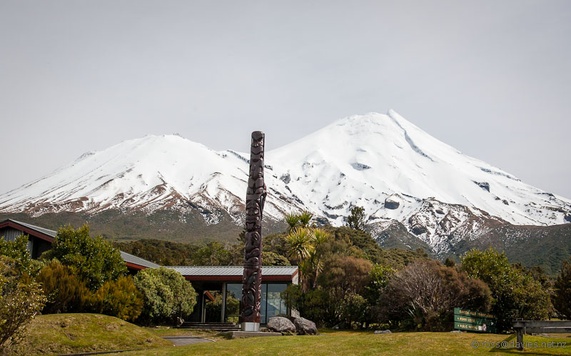 Mt Taranaki from Dawson Falls Visitor Centre
