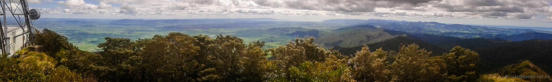 Panorama from Mt Te Aroha