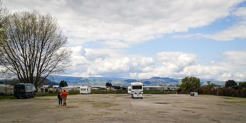 Parked up at Ngongotaha at Rotorua