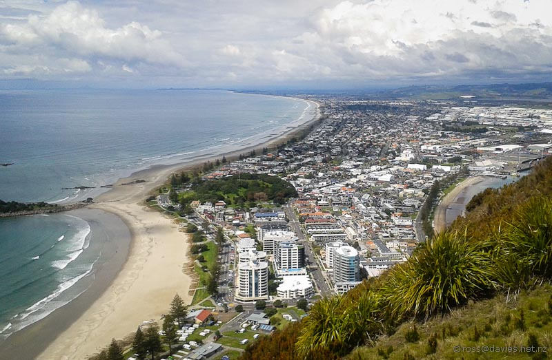 Mount Maunganui from the Mount