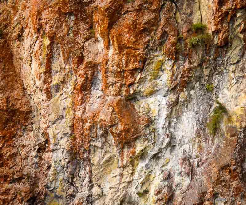 Red ochre cliffs Rainbow Mountain