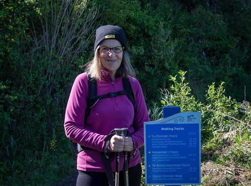 Beginning of track to Mt Te Aroha