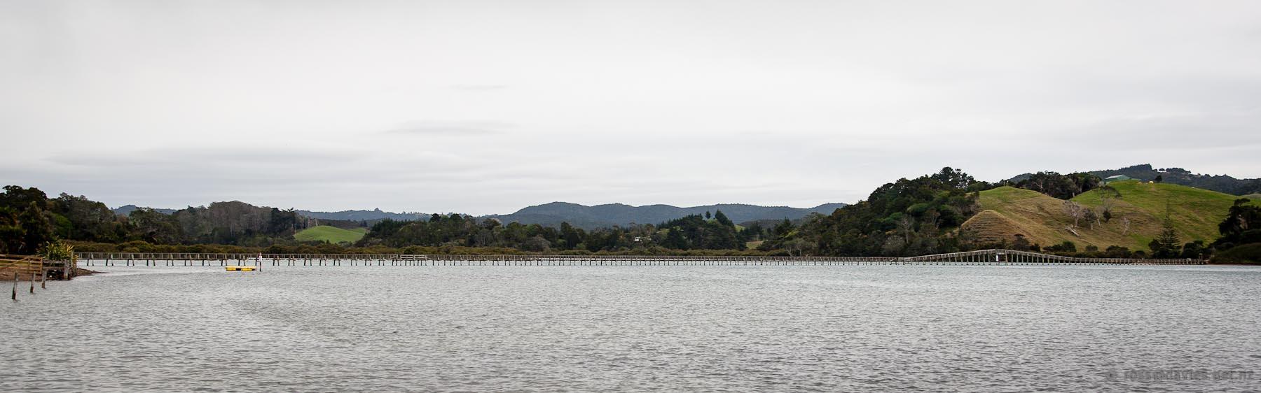 Footbridge across Whananaki Estuary