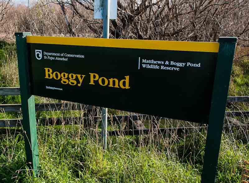 Boggy Pond sign