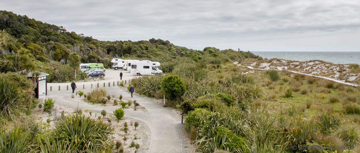 Ship Creek dunes and car park