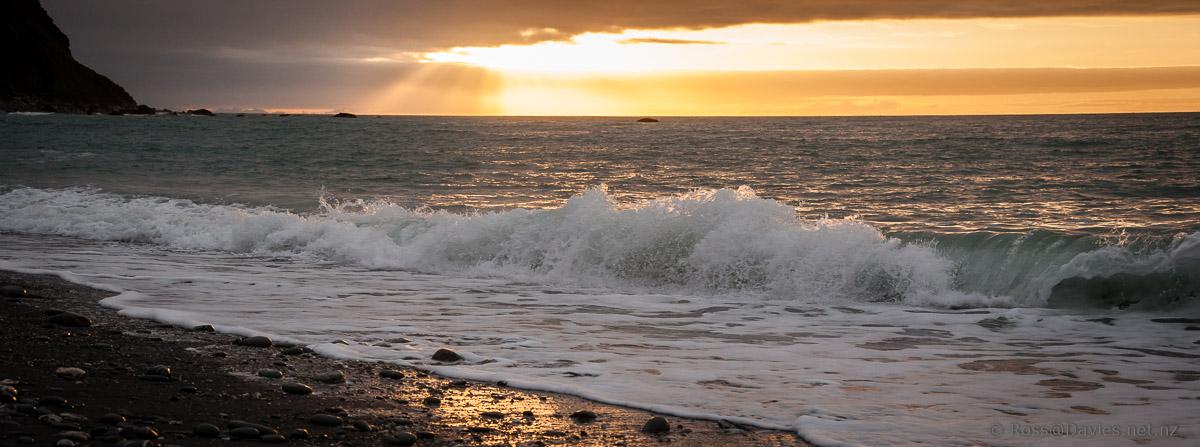 Sunset - Okarito Beach